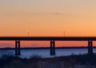 Robert Moses bridge at sunset photos
